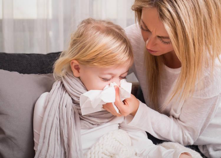 9.風邪で病院に行くんですね。アメリカは医療費が高いから行かないよ