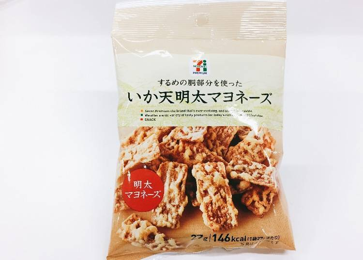 2.鱿鱼天妇罗饼干 明太子蛋黄酱口味(イカ天明太マヨネーズ)