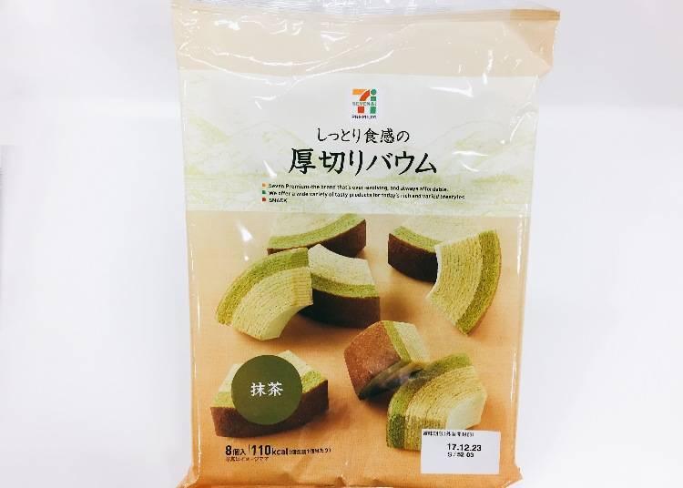 9.厚切抹茶年轮蛋糕 (しっとり食感の厚切バウム 抹茶)