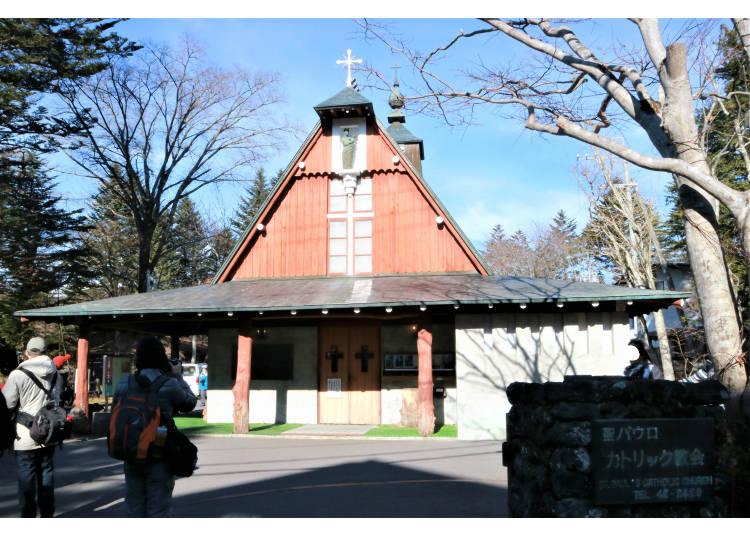輕井澤知名的代表教會「聖保羅教堂」