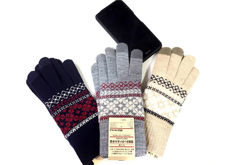 5.Snowflake Touchscreen Gloves
