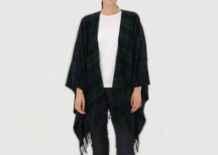 6. Multi-Functional Plaid Cape