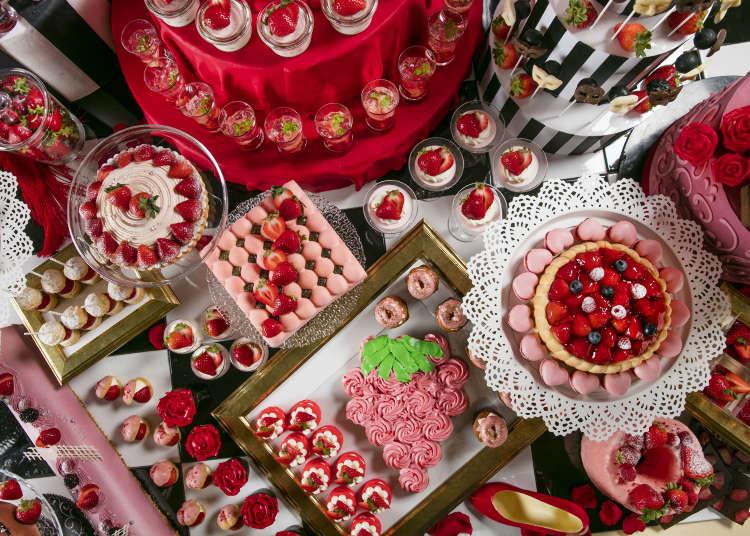 戀上草莓化裝舞會 東京台場希爾頓飯店草莓甜點吃到飽