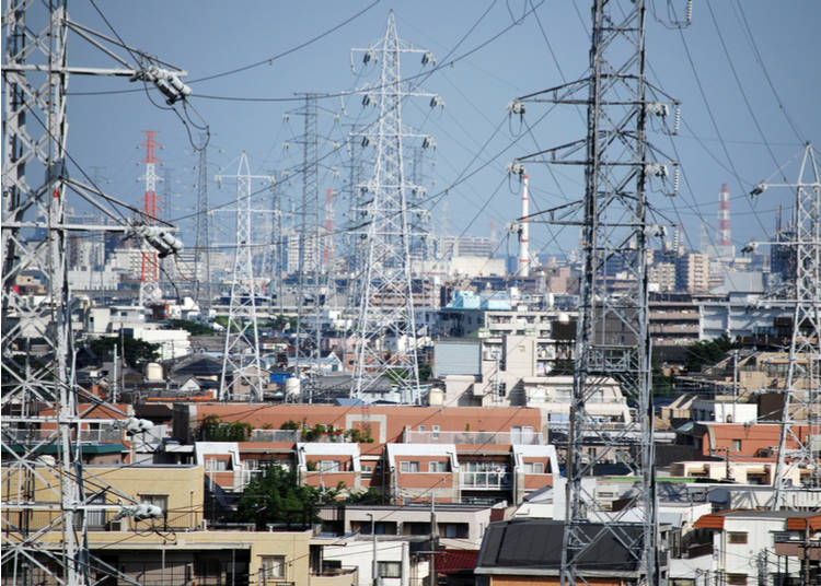 9. Power lines are everywhere
