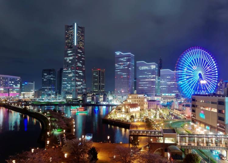 Yokohama Landmark Tower and Minato Mirai