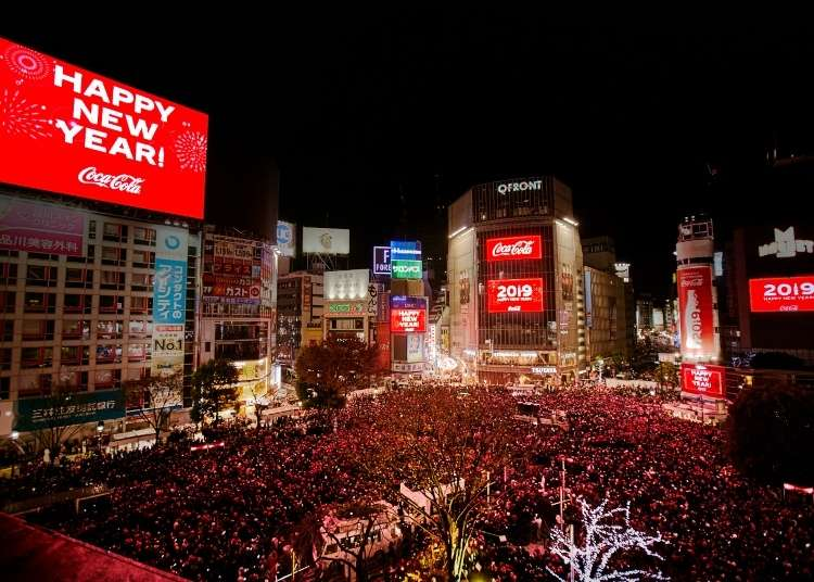 "Counting Down New Year's at Tokyo's ""Times Square"" in Shibuya!"
