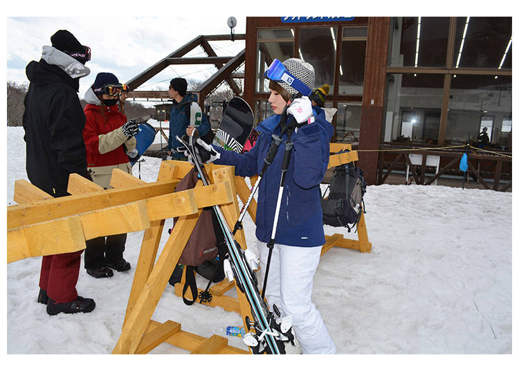 2. Remember where you left your skis or snowboard