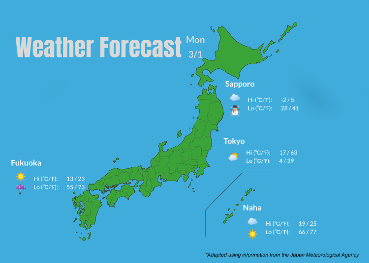 February 2019 Weather: 7-day Forecast for Tokyo and Japan (And What to Wear for the Season!)