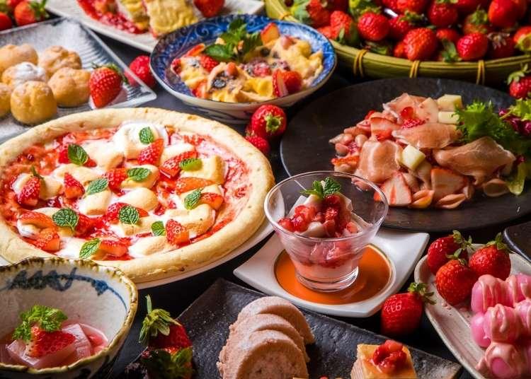 視覺與味蕾一次滿足!上野自然食自助吧「大地的贈禮」期間限定草莓甜點季開跑囉