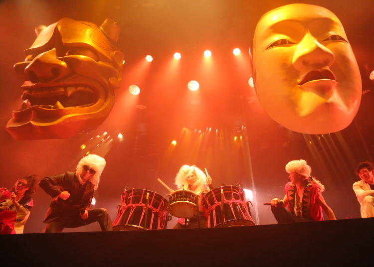 A live performance of Japanese taiko drums and dance right in front of your eyes