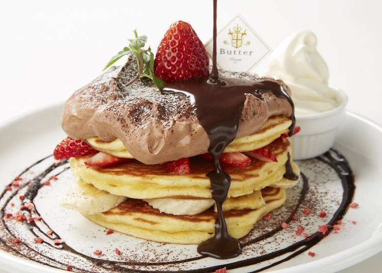 Mille-feuille Pancakes with Thick and Creamy Ganache