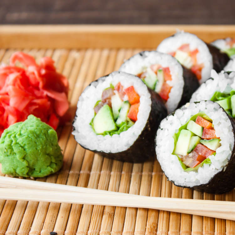 12 Vegetarian & Vegan Sushi Rolls You'll Want to Try