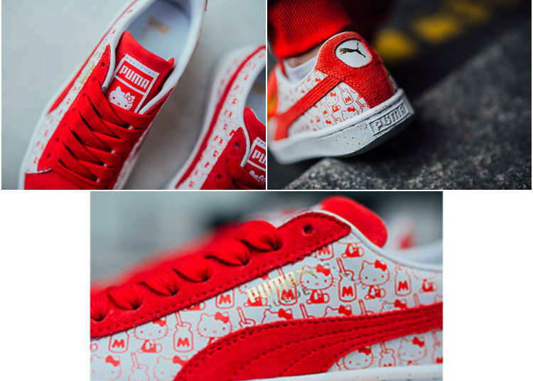 PUMA Meets Hello Kitty: Collaboration Merch Featuring Red & White Patterns!