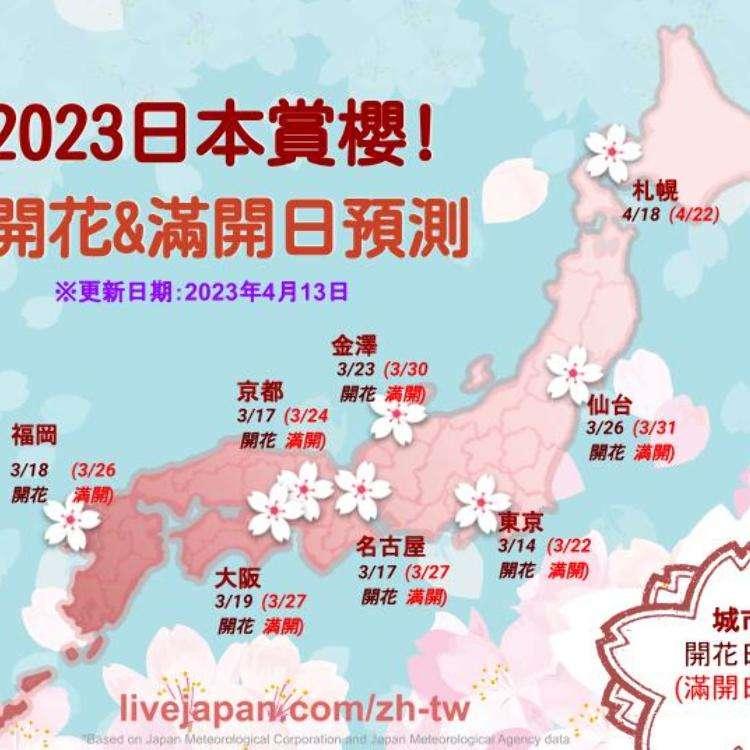 【速報】2018年日本櫻花前線・開花滿開日期賞櫻情報