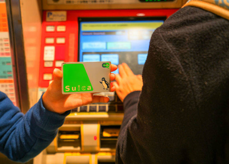 3. Get an IC Card for Trains, Buses, Convenience Stores, Vending Machines, and more!