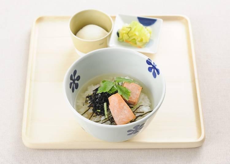Dashi Chazuke En Shinjuku Odakyu Ace Shop where you can enjoy a Japanese-style breakfast