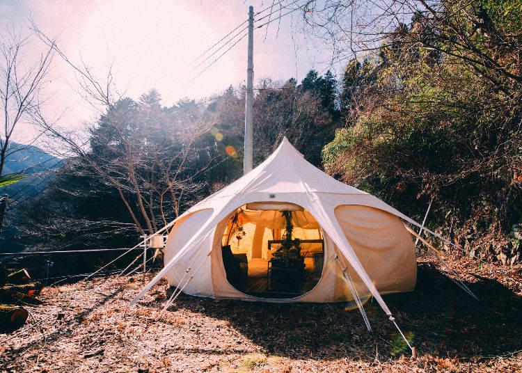 大自然が広がる東京・奥多摩にグランピング施設が誕生(2018年3月予定)