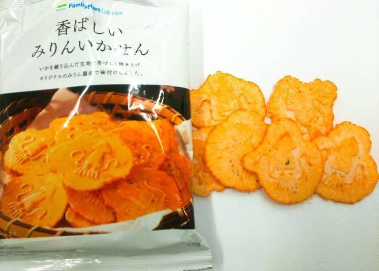 Squid Crackers 100 yen (108 yen tax incl.)