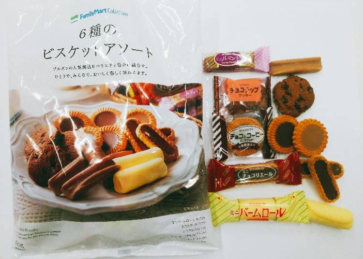 Assorted Biscuits, 6 Varieties 284 yen (306 yen tax incl.)