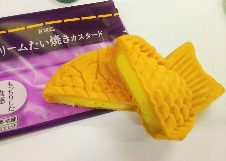 Custard Cream Taiyaki 130 yen (140 yen tax incl.)