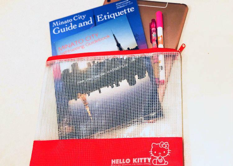 Hello Kitty A5 Size Mesh Case