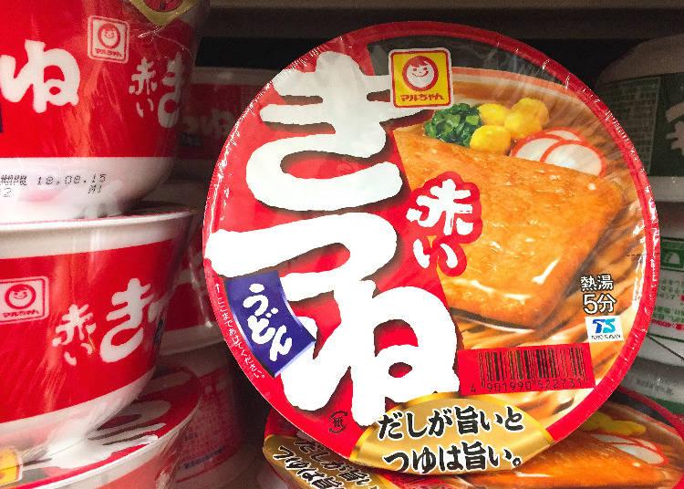 第5名:東洋水產 Maruchan紅色豆皮烏龍麵(マルちゃん 赤いきつねうどん)