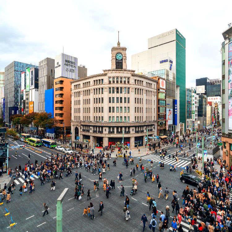 도쿄 긴자에서 즐기는 쇼핑! 긴자지역의 쇼핑에 관한 알짜 정보를 모두 담았다!