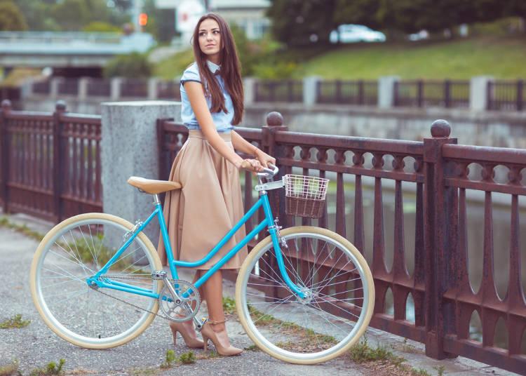 ヒールを履いて自転車に乗っていたら、どきっとしちゃう。