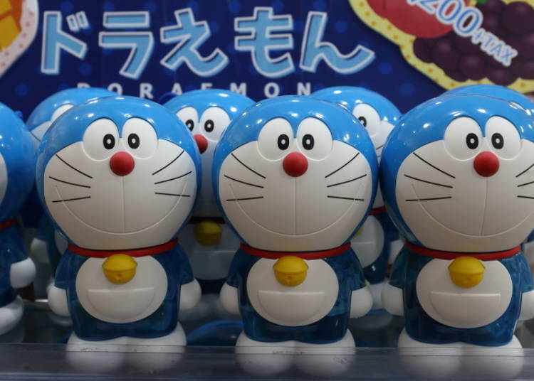 """No. 6: Becomes a piggy bank after you eat the contents! """"Doraemon Fruit Jelly Piggy Bank"""""""
