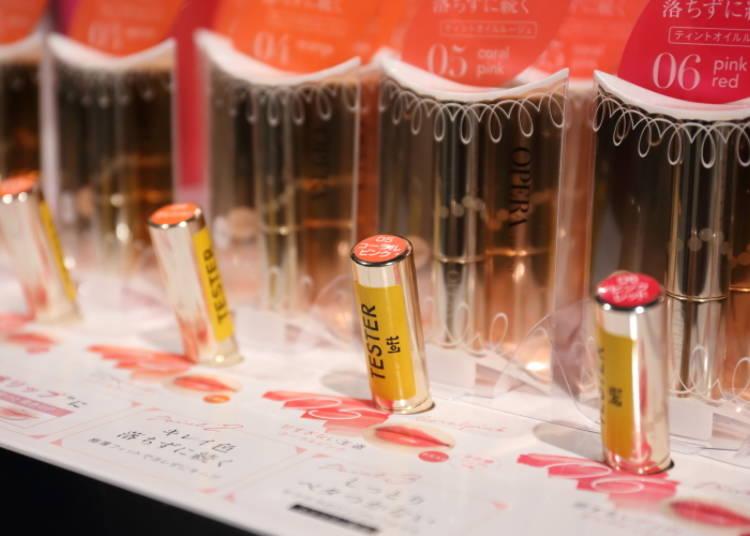 【NO.5】 擁有自然光澤的唇 「OPERA 渲漾水色唇膏 05珊瑚粉色」1500日圓