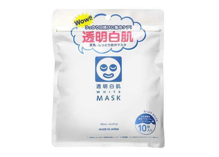 【NO.2】 用一次之後就愛不釋手!「透明白肌美白面膜」10片裝 600日圓