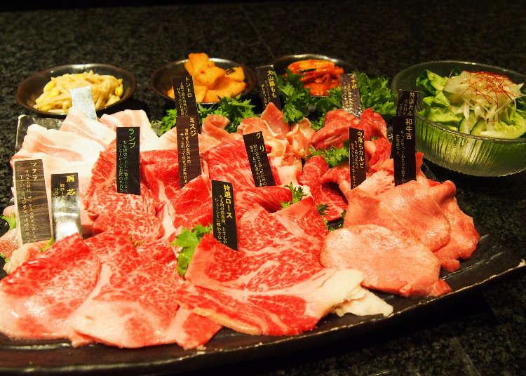 도쿄 긴자 맛집 - 최고의 가성비! A5등급의 브랜드 소고기(검은털소)를 무한대로!