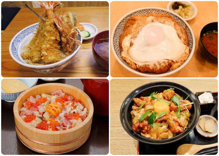 除了海鮮丼還有好多選擇!東京四大老舖丼飯讓你每天都想丼滋丼滋!