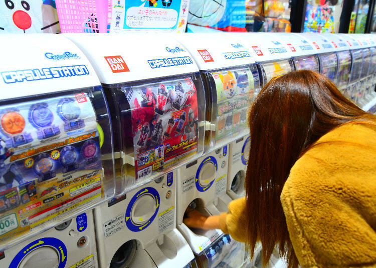 Try Out the Famous Gachapon