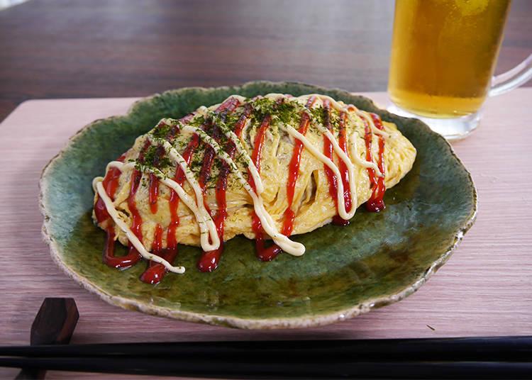 7. Omu-Soba, Fried Noodles with Omelet