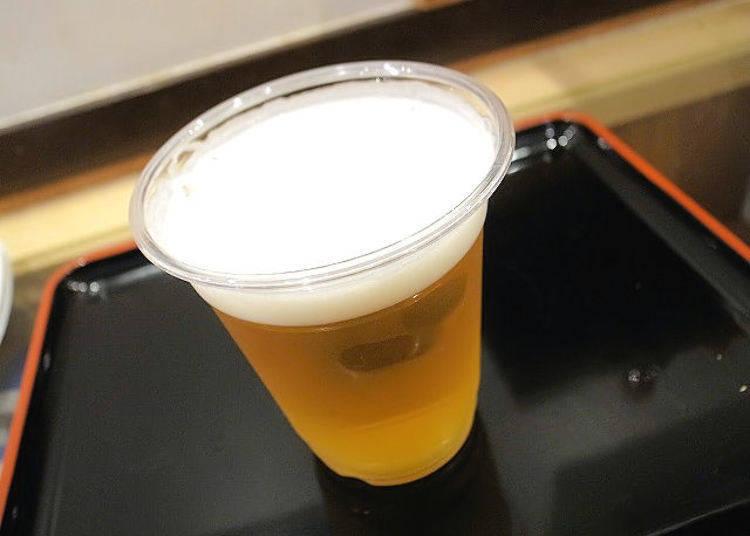 술 한잔에 200엔부터!  생맥주는 단돈 250엔!