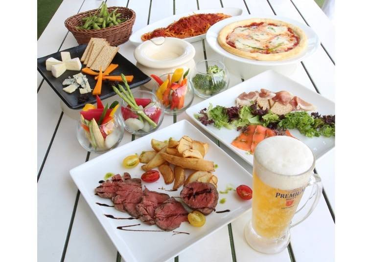 Tokyu Rooftop Premium Beer Garden: Specialty Dishes High Above Tokyo!