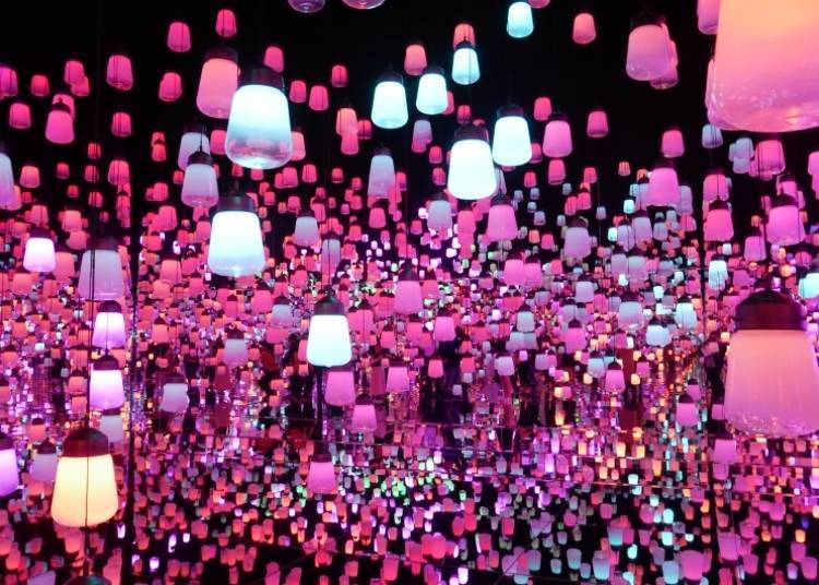 A Forest of Lamps Floating in the Air Makes This a Beautifully Mystical Place