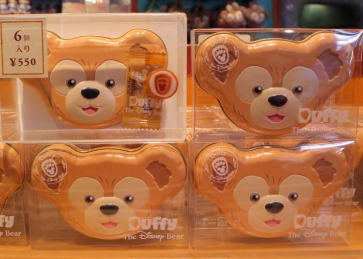 Duffy's Candy (Black Tea): Cute Duffy Face Tin Box! (550 Yen)