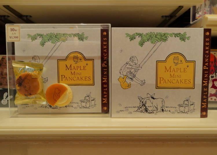 Maple Mini Pancakes: Tiny Pooh Bear on Delicious Bites! (1,300 Yen)