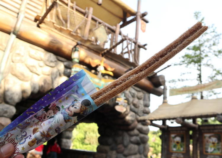 Shaped Like Mickey's Face, Even When You Cut It! Mickey Churros (Cinnamon), 310 yen