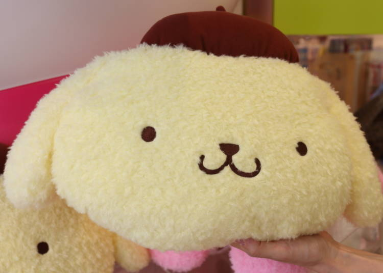Pompompurin's Face Pillow S: Super Soft, Cuddly, and Kawaii! (1,500 Yen)