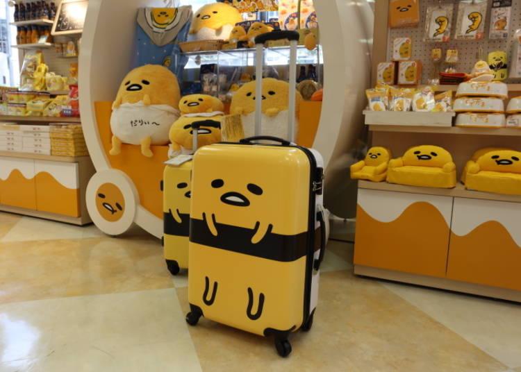 Gudetama Suitcase L: Super Unique! Gudetama Turns Into Sushi! (17,800 Yen)
