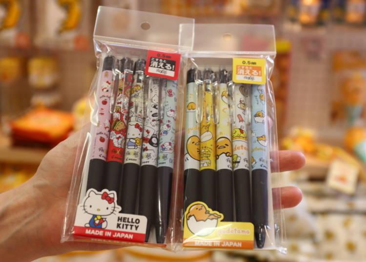 Gudetama & Hello Kitty FriXion Ball Knock Set: A Purrfect Little Souvenir! (1,750 Yen Each)
