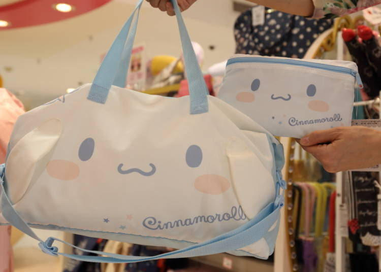 Cinnamoroll Foldable Face Boston Bag: Compact, Cute, and Super Handy! (2,500 Yen)