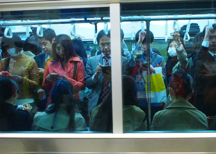 No. 9: 178% Congestion Rate – Chiyoda Line (Machiya Station → Nishi Nippori Station)