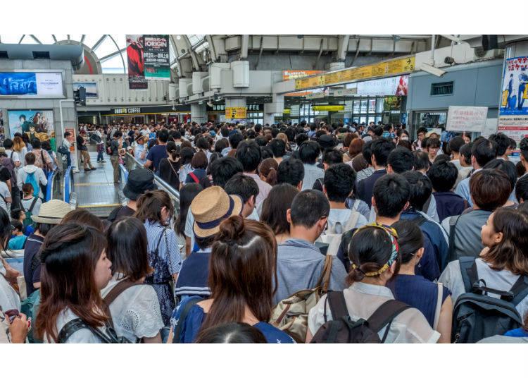 No. 6: 184% Congestion Rate - Tokaido Line (Kawasaki Station → Shinagawa Station)