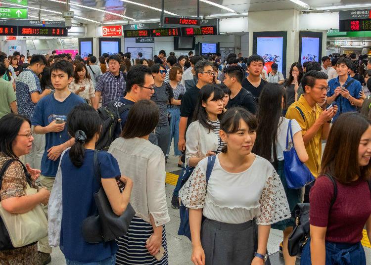 No. 4: 191% Congestion Rate - Yokosuka Line (Musashi Kosugi Station → Nishi Ōi Station)