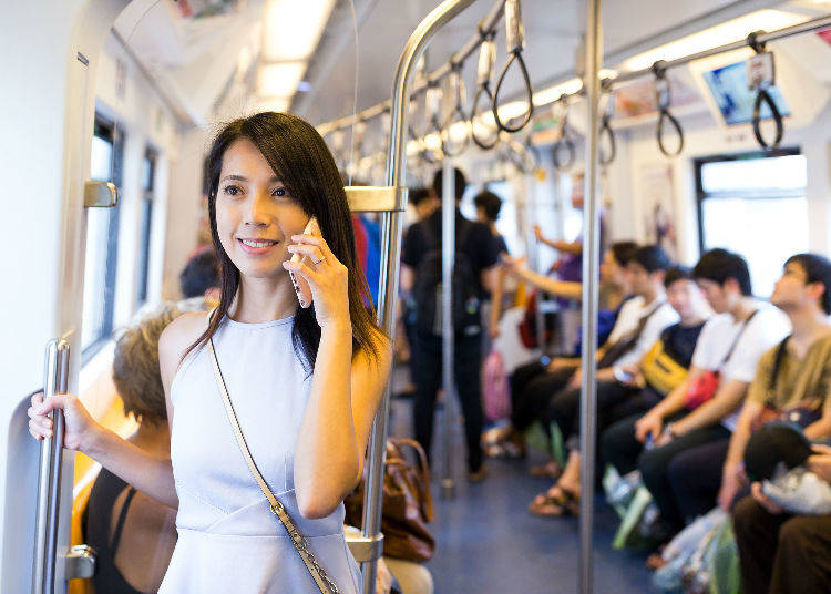 No Cellphone Use Inside Bus and Train Cars