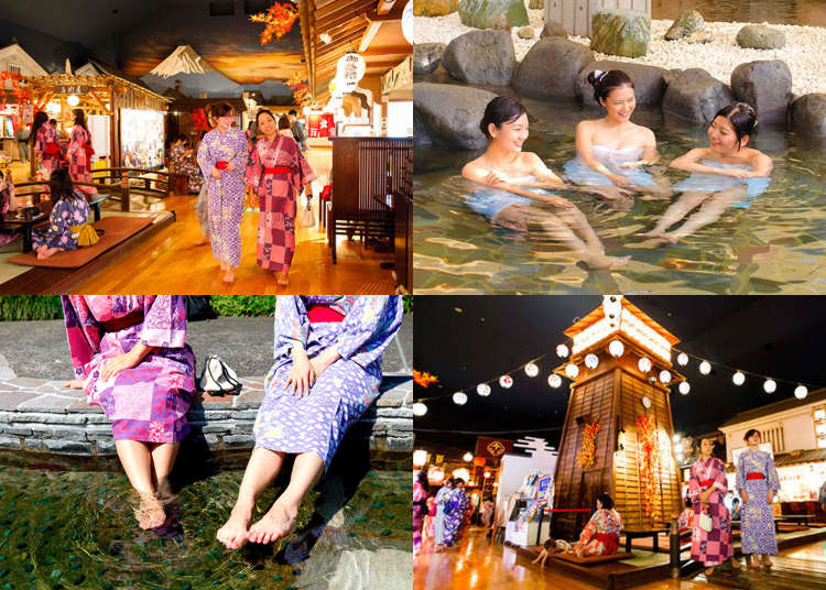 Onsen in Tokyo: Enjoying a Traditional Hot Spring Day at 'Odaiba Oedo Onsen Monogatari'!
